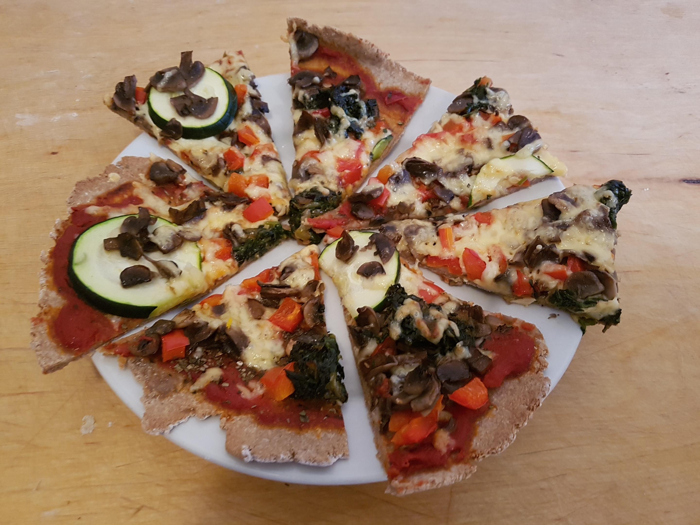 Pizza z kaszy gryczanej