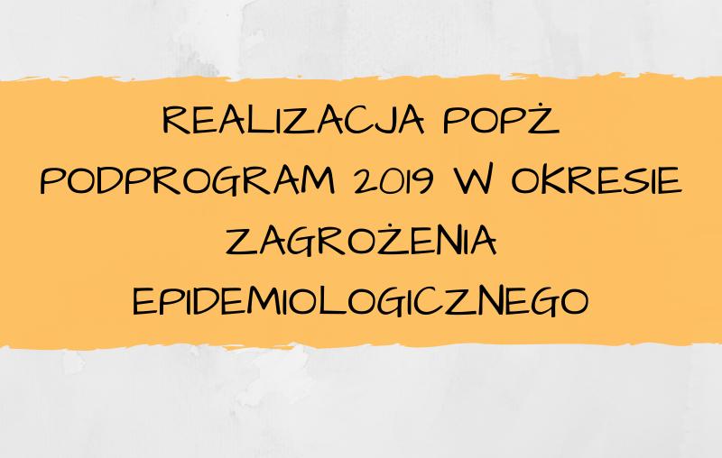Realizacja POPŻ Podprogram 2019 w okresie zagrożenia epidemiologicznego